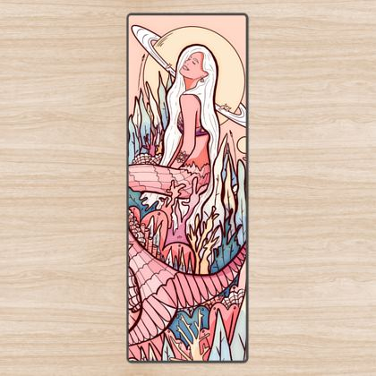 A mermaid from another world yoga mat