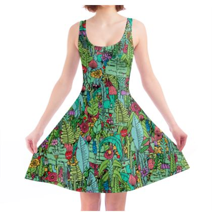 A green spring - Skater dress