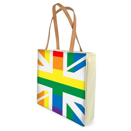 LGBTQ+ England UK flag shopper bag