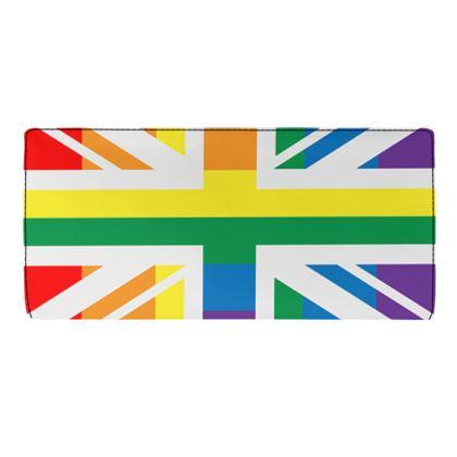 LGBTQ+ England UK flag travel wallet