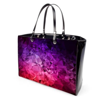 Handbags in the ULTRA VIOLET GEOMETRIC RAINBOW design