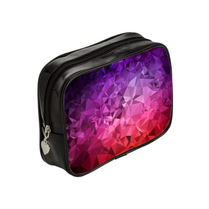 Make Up Bags in the ULTRA VIOLET GEOMETRIC RAINBOW design