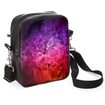 Shoulder Bag in the ULTRA VIOLET GEOMETRIC RAINBOW design