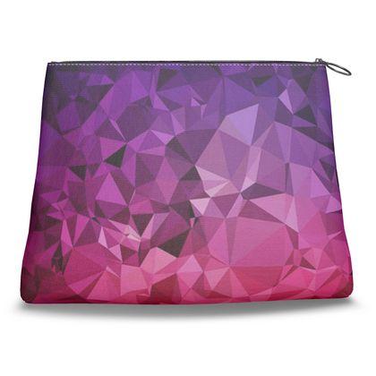 Clutch Bag in the ULTRA VIOLET GEOMETRIC RAINBOW design