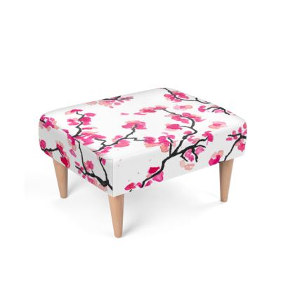 Japanese Cherry Blossoms Footstool