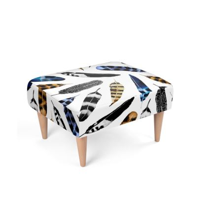 Bohemian Free Feather Footstool