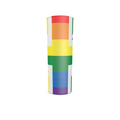 LGBTQ+ England UK flag hi ball glass