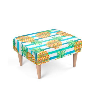 Pineapple Sea Stripes Footstool