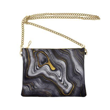 dark agate stone crossbody bag