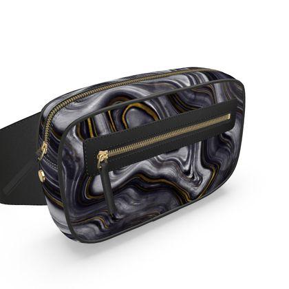 dark agate stone belt bag