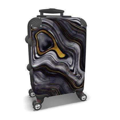 dark agate stone suitcase