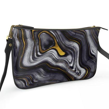 dark agate stone zip bag