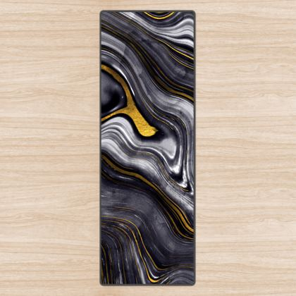 dark agate stone yoga mat