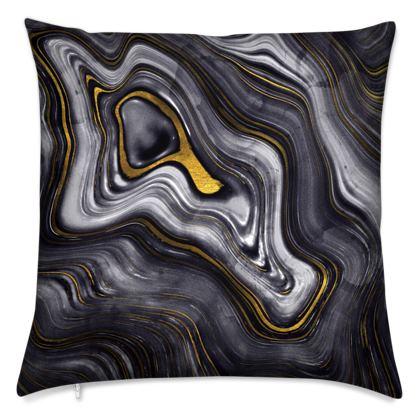 dark agate stone cushions
