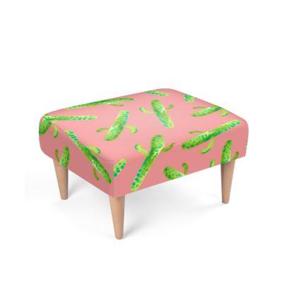 Cactus In PinkFootstool