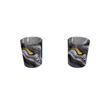 dark agate stone shot glass 2 set