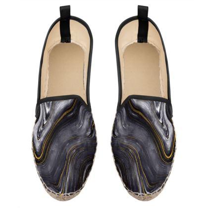 dark agate stone loafer espadrilles
