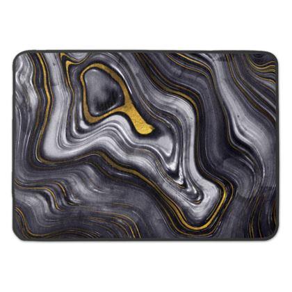 dark agate stone bath mat