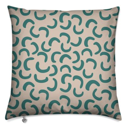 Cushions - Beige and Turquoise