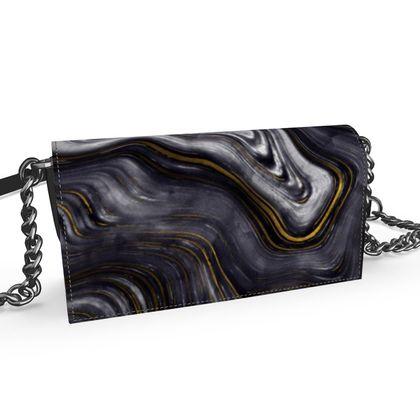 dark agate stone evening bag