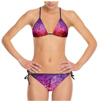 Bikini in the ULTRA VIOLET GEOMETRIC RAINBOW design