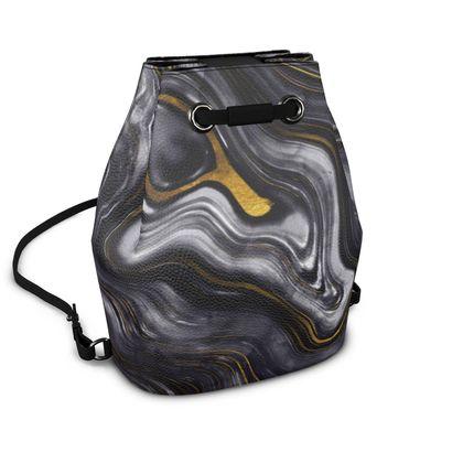 dark agate stone backpack