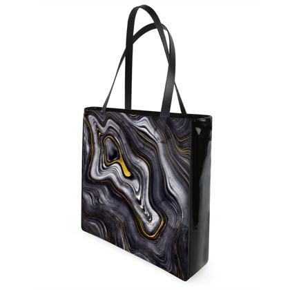 dark agate stone shopper bag