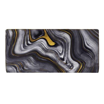 dark agate stone travel wallet