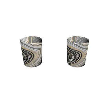 black and gold agate shot glass