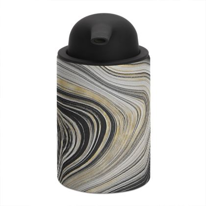 black and gold soap dispenser