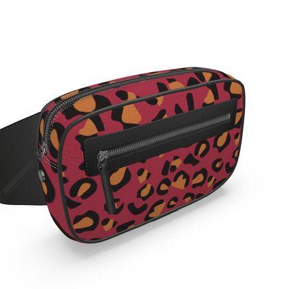 leopard print belt bag