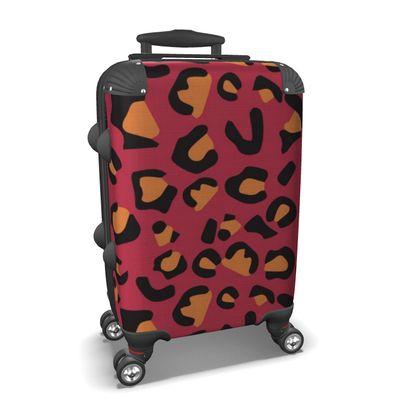 leopard print suitcase