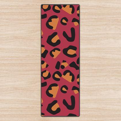 leopard print yoga mat