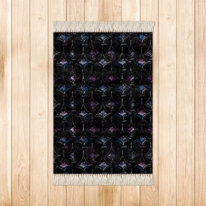 Black Diamond printed glamorous Rug