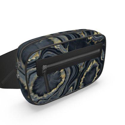 black agate belt bag