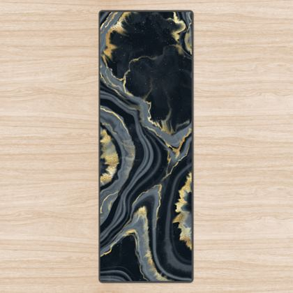 black agate yoga mat