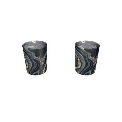 black agate shot glass 2 set