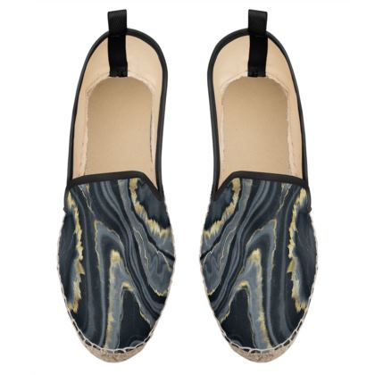 black agate loafer espadrilles