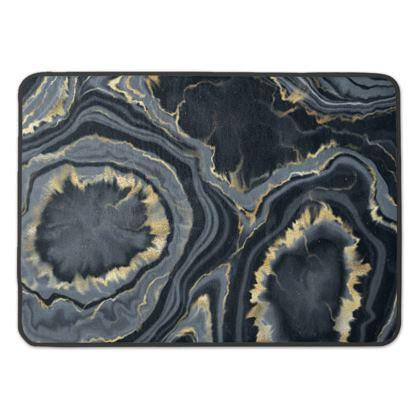 black agate bath mat