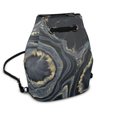black agate bucket backpack