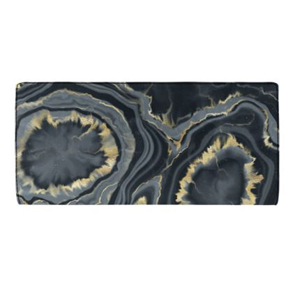 black agate travel wallet