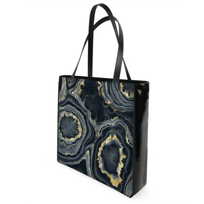 black agate shopper bag
