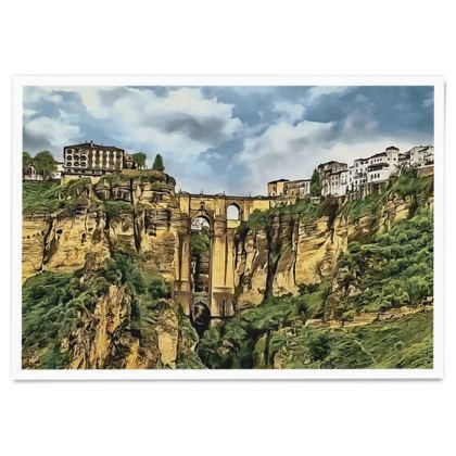 El Tajo Canyon of Ronda - Paper Poster