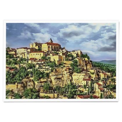 Gordes Hilltop Village - Paper Poster