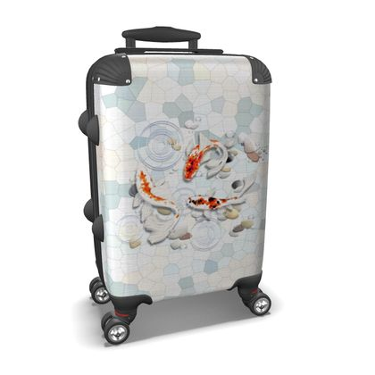 Suitcase - 'Clear Water Koi' Theme Art One