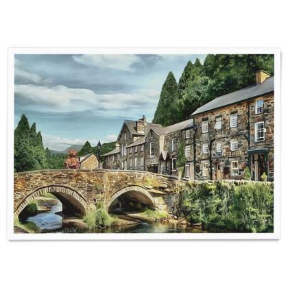 Beddgelert old stone bridge - Paper Poster