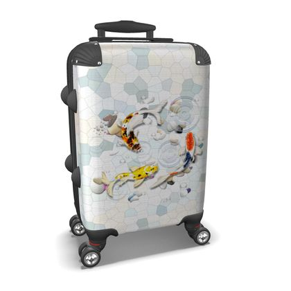 Suitcase - 'Clear Water Koi' Theme Art Two