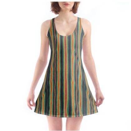 Beach Dress – Serape-Print #6 Rasta