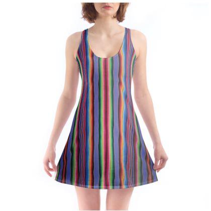 Beach Dress – Serape-Print #8  Lavender