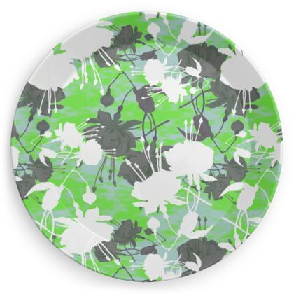 Party Plates [x 4 shown] Green, Light teal, White, Dark grey  Minted